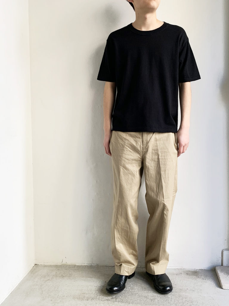 AULICO _ ショートスリーブTEE-SHIRT/ Black