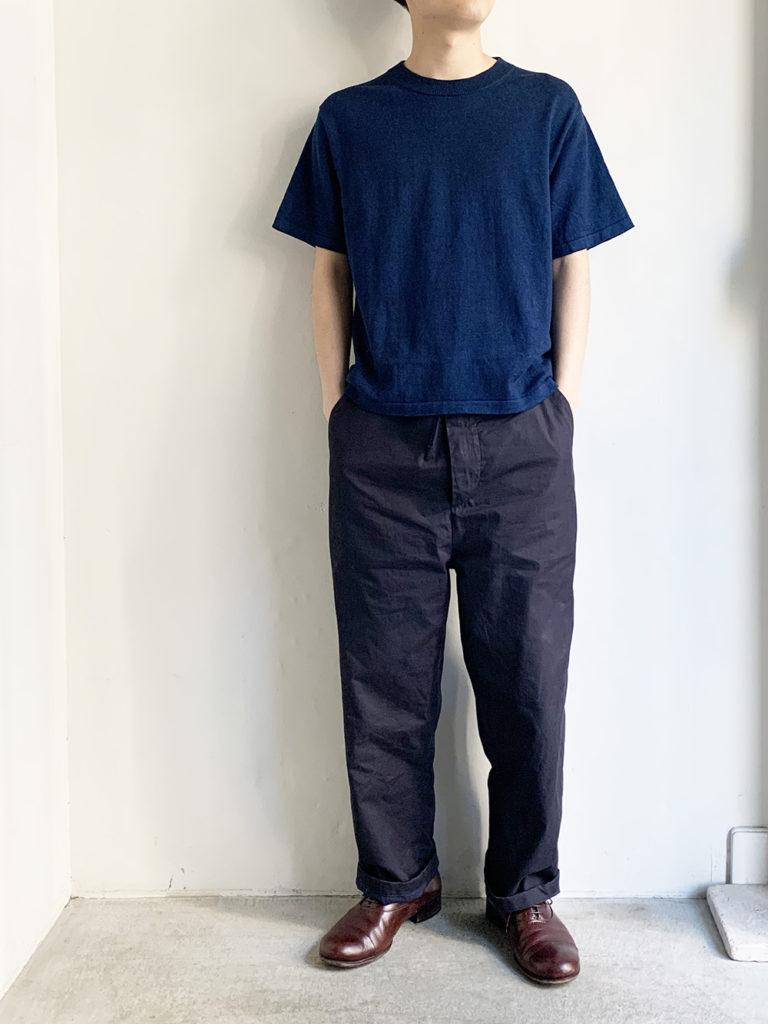 AULICO _ ショートスリーブTEE-SHIRT/ Navy