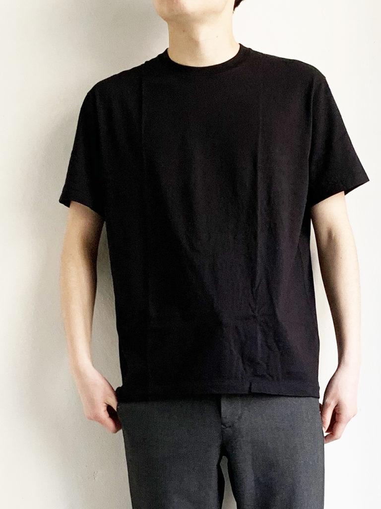 YAECA _ 丸胴ドライタッチTシャツ30009 / Black