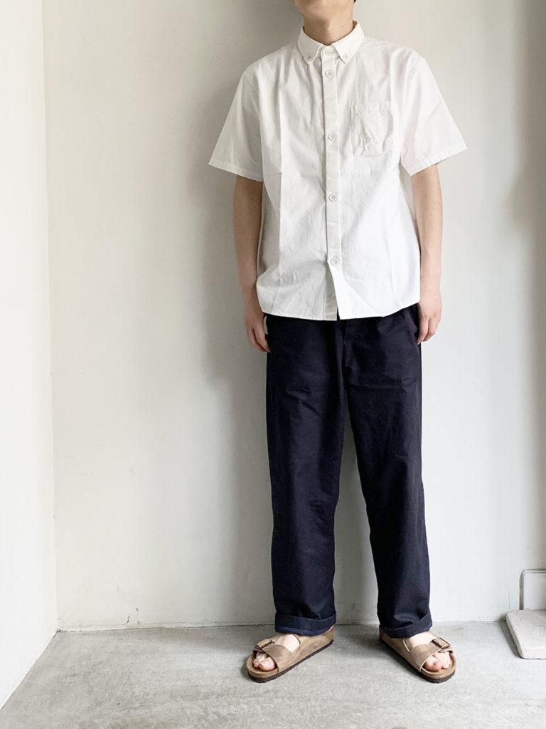 LOLO _ ステッチ無しB.D半袖シャツ / White