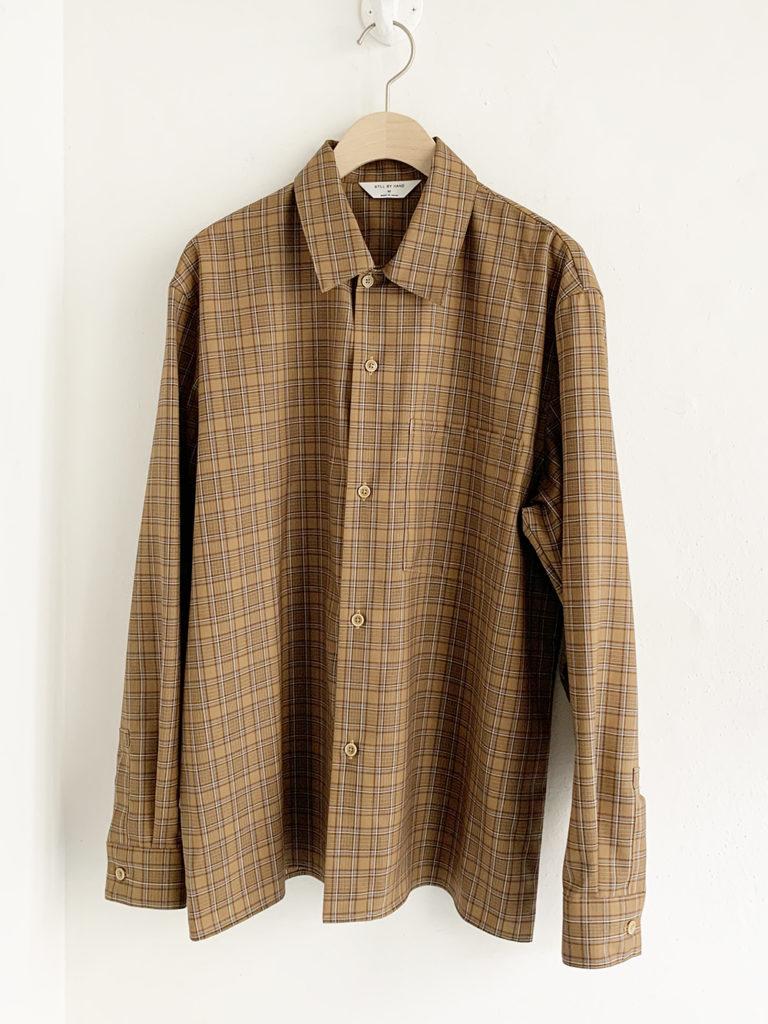 STILL BY HAND _ ウールチェックシャツ / Brown