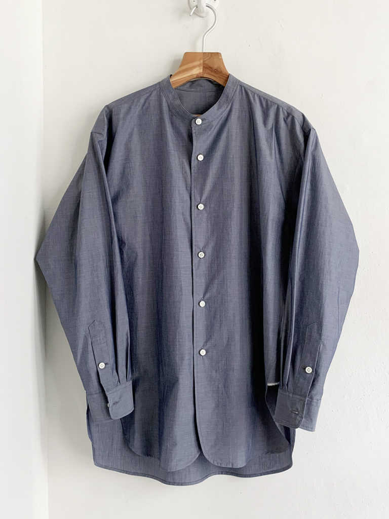 un/unbient _  スタンドカラーシャツ / Navy