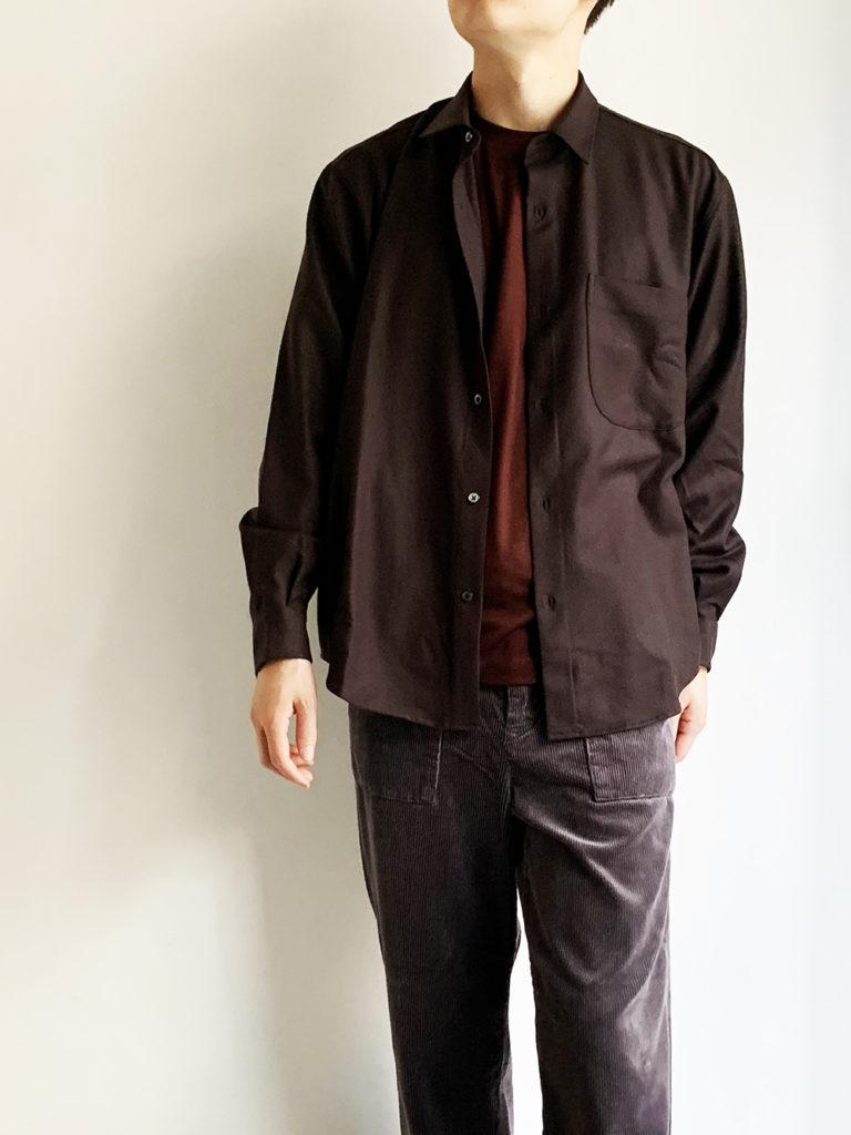 LAMOND _ サキソニー 2wayシャツ/ Brown