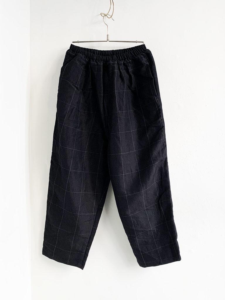 ordinary fits _ ナローボールパンツwool linen/ CHK