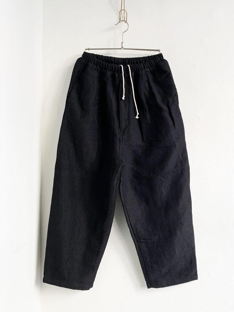 ordinary fits _ ナローボールパンツwool linen/ Black