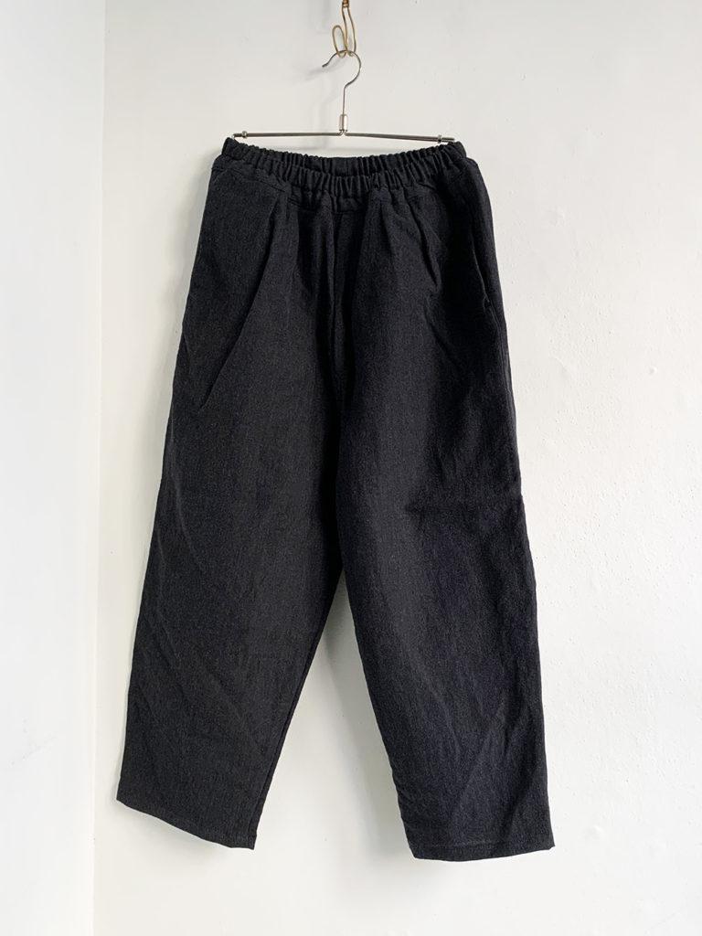 ordinary fits _ ナローボールパンツwool linen/ Gray
