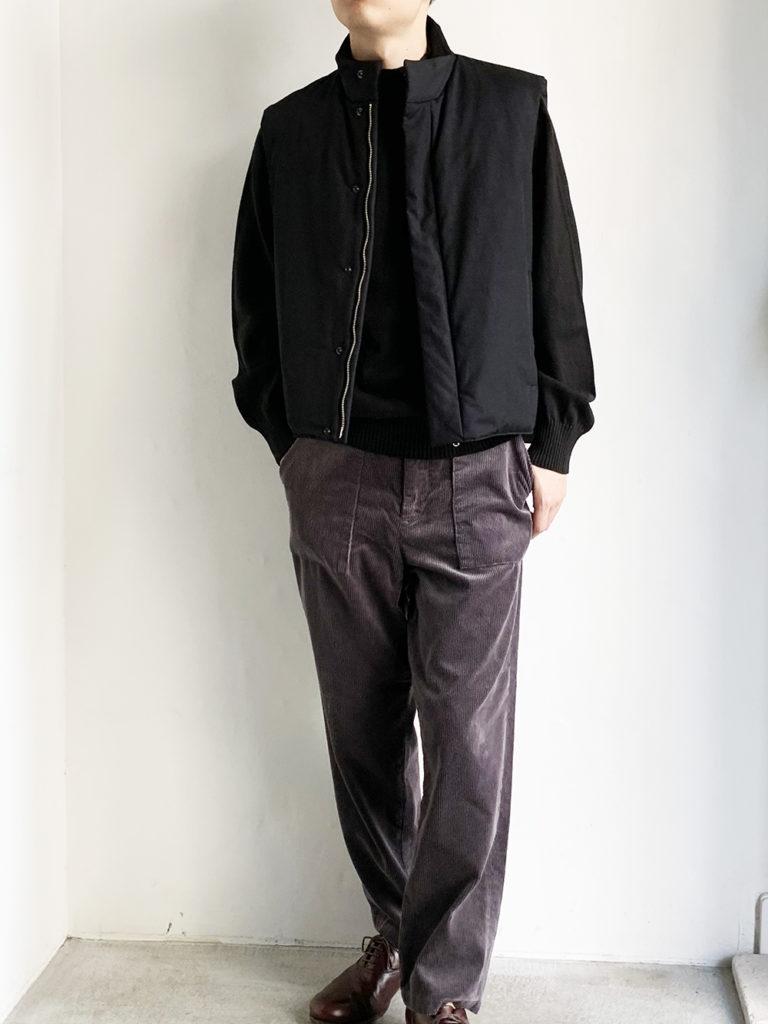 STILL BY HAND _ 撥水シンサレートジップアップベスト / Black