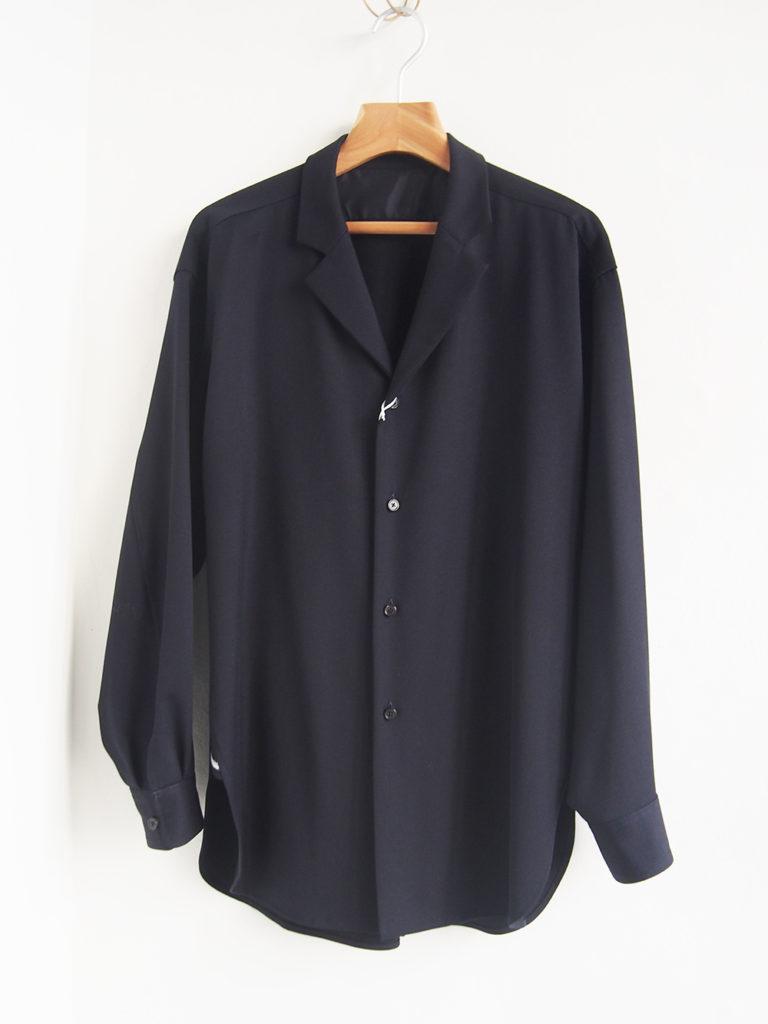 un/unbient_ ウールギャバジンテーラードシャツ / Navy