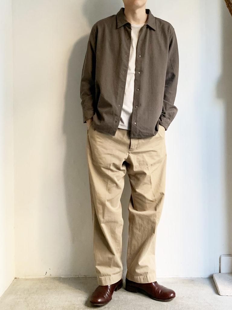 YAECA _ コンフォートシャツ リラックススクエア 10154/ Gray