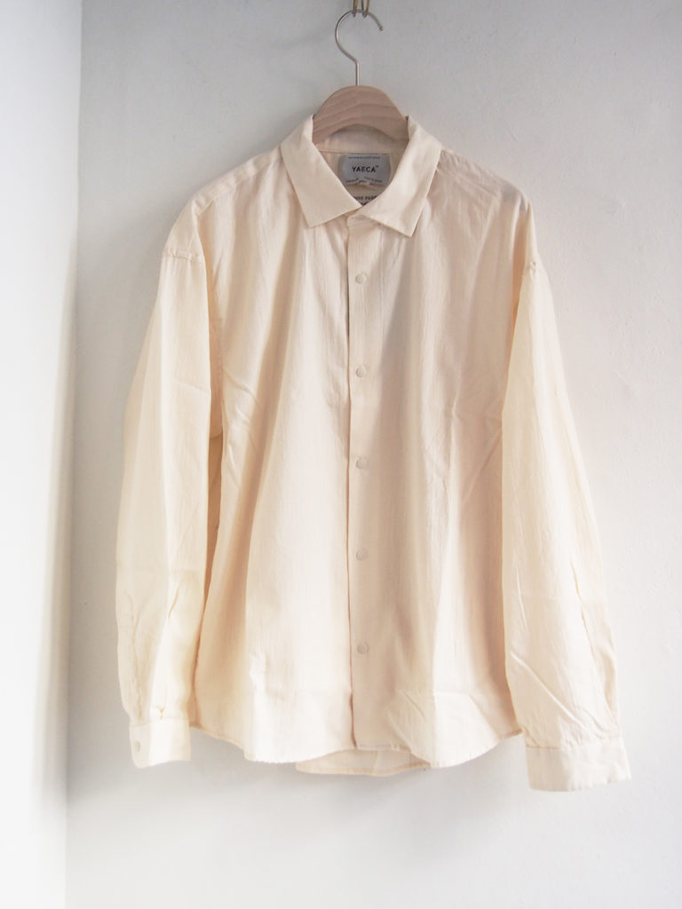 YAECA _ コンフォートシャツ エクストラワイド 10156/ Natural