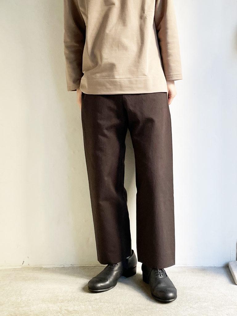 YAECA  _ クロップドパンツ50652 / Charcoal