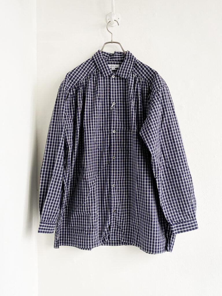 ordinary fits_ グラフチェックシャツ/ Navy