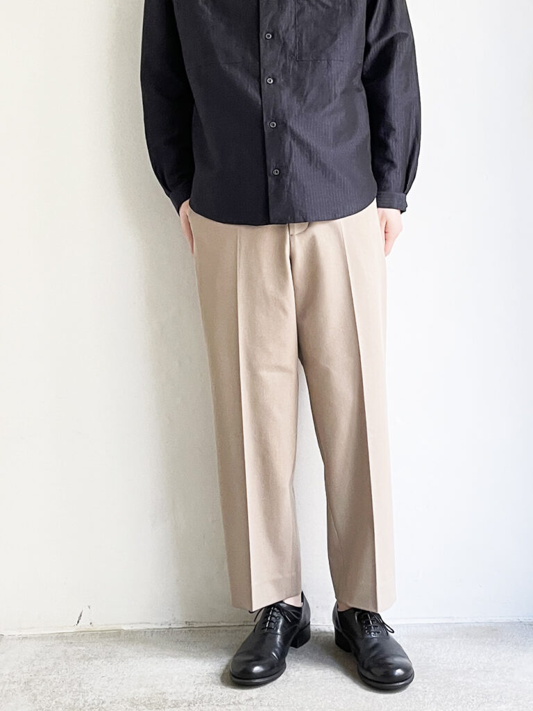 YAECA  _ CONTEMPO 2WAY パンツ ワイドテーパード 51611/ L.brown
