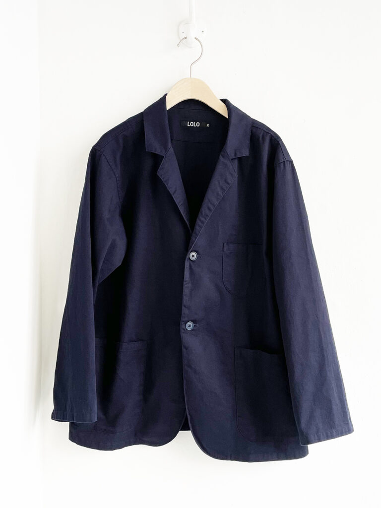 LOLO _ ツイルシャツジャケット / Navy