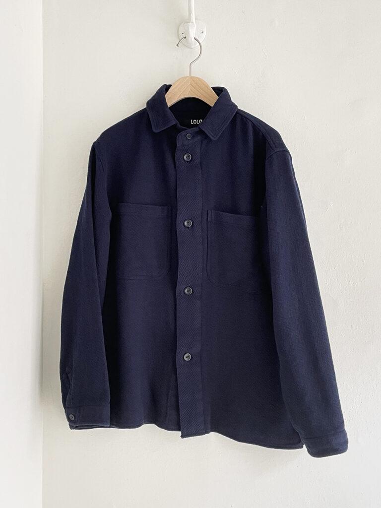 LOLO _ トリプルヤーンツイルシャツ / Navy