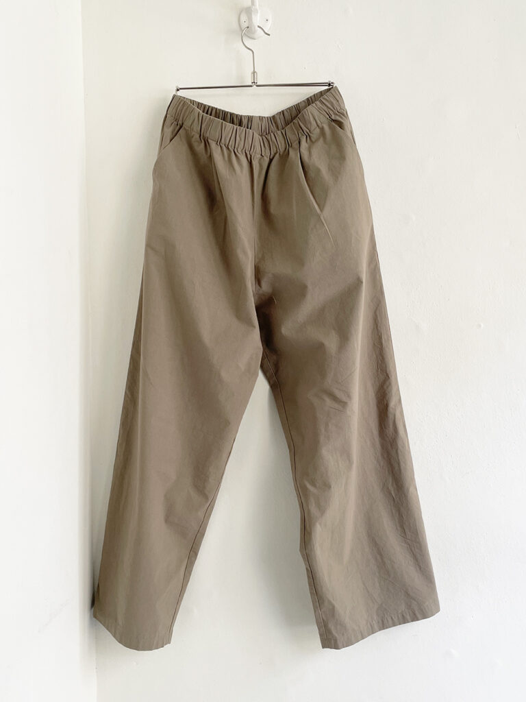 evam eva (WOMEN) _ cotton easy pants / Amber