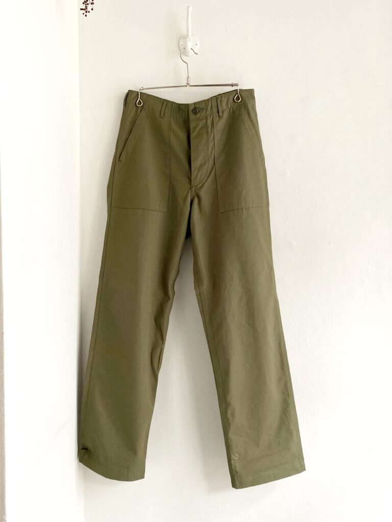 orSlow _ US ARMY FATIGUE パンツ / Rip army green