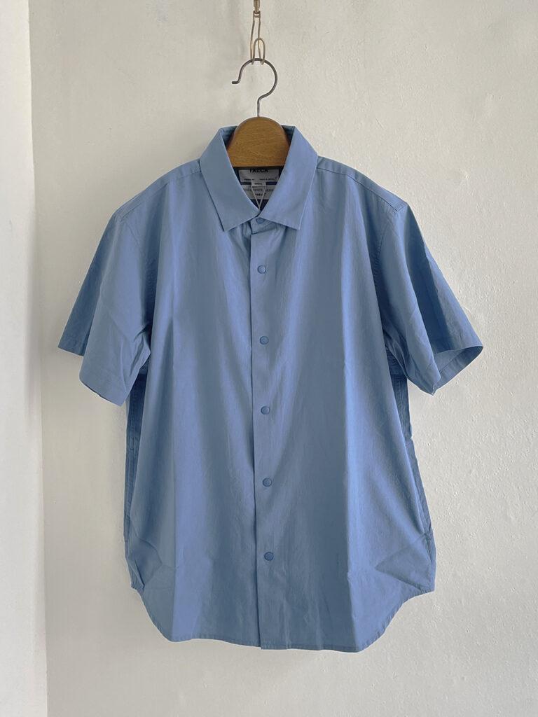 YAECA _ コンフォートシャツ リラックスロングS/S   /  Gentian