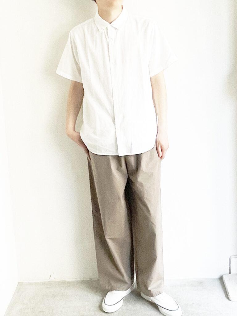 YAECA _ コンフォートシャツ リラックスロングS/S   /  White