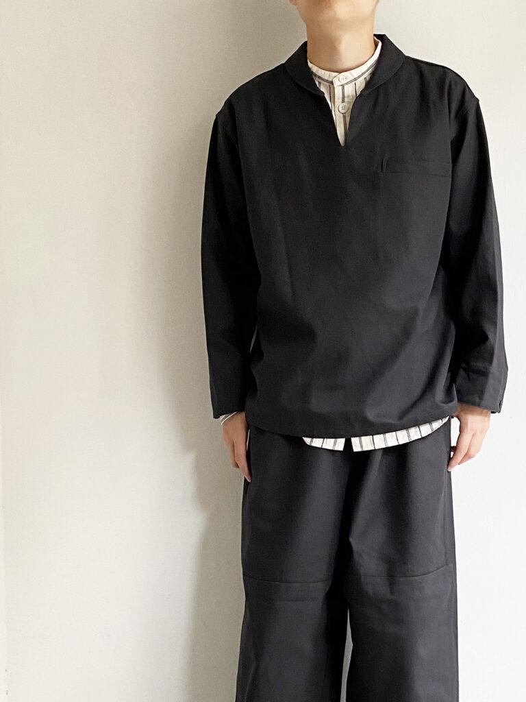 KIJI _ ベネシャンセーラーシャツ/ Charcoal