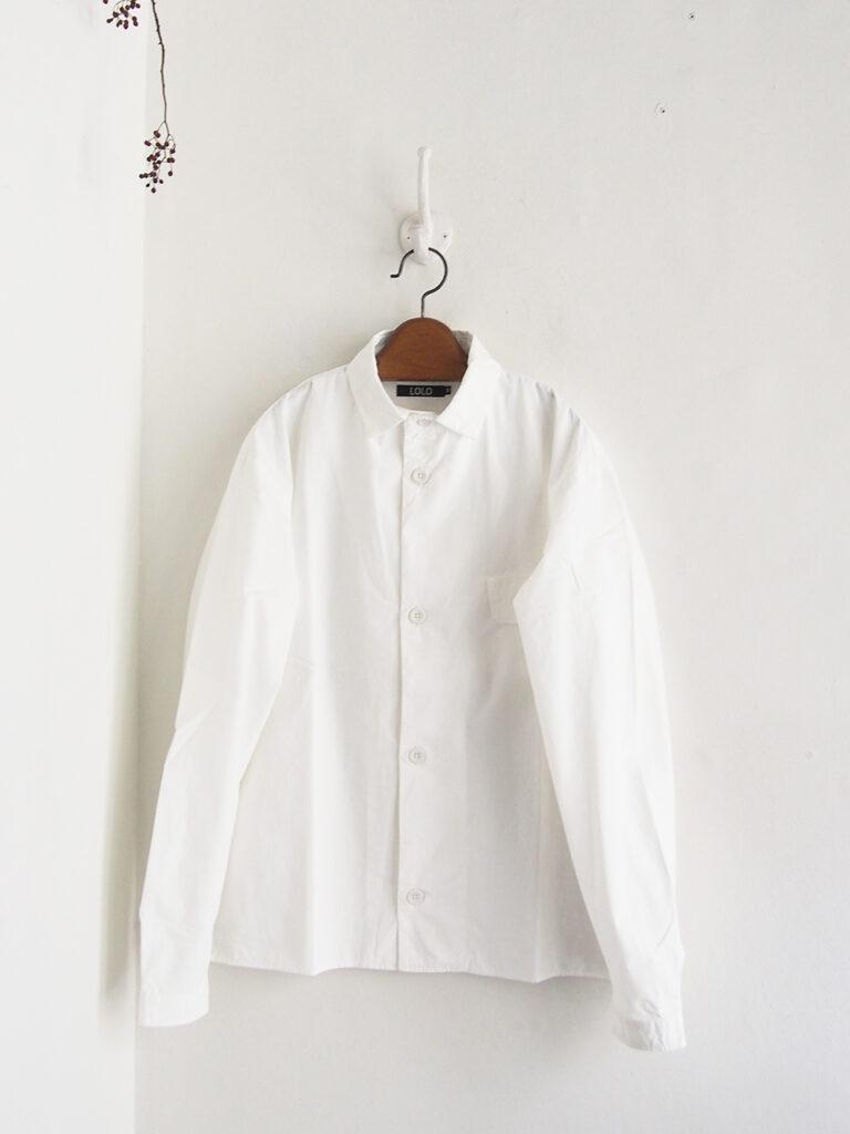 LOLO _ ステッチ無し長袖シャツ / White